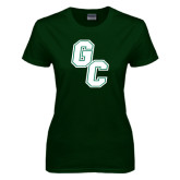 Ladies Dark Green T Shirt-GC