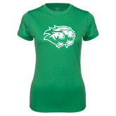 Ladies Syntrel Performance Kelly Green Tee-Lions