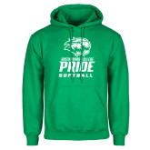 Kelly Green Fleece Hoodie-Softball