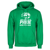 Kelly Green Fleece Hoodie-Wrestling