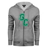 ENZA Ladies Grey Fleece Full Zip Hoodie-GC