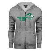 ENZA Ladies Grey Fleece Full Zip Hoodie-Nana