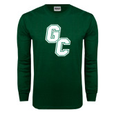Dark Green Long Sleeve T Shirt-GC
