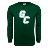 Dark Green Long Sleeve T Shirt-GC