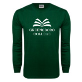 Dark Green Long Sleeve T Shirt-Greensboro College