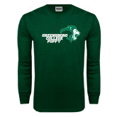 Dark Green Long Sleeve T Shirt-Poppy