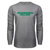 Grey Long Sleeve T Shirt-Wordmark
