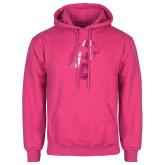 Fuchsia Fleece Hoodie-Official Logo Foil