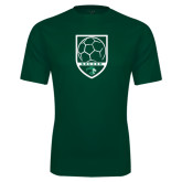 Performance Dark Green Tee-Soccer Shield Design