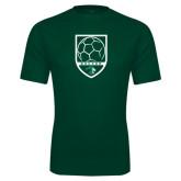 Performance Dark Green Tee-Soccer Shield Design