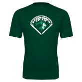 Performance Dark Green Tee-Baseball Design