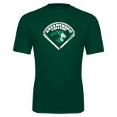 Performance Dark Green Tee-Baseball Design