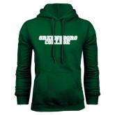 Dark Green Fleece Hood-Wordmark