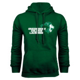 Dark Green Fleece Hood-Lacrosse
