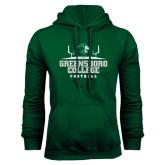 Dark Green Fleece Hood-Football Field Design