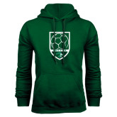 Dark Green Fleece Hood-Soccer Shield Design