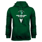 Dark Green Fleece Hood-Lacrosse Design