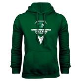 Dark Green Fleece Hood-Lacrosse Design