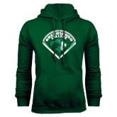 Dark Green Fleece Hood-Baseball Design
