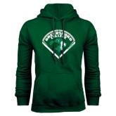 Dark Green Fleece Hood-Baseball Design