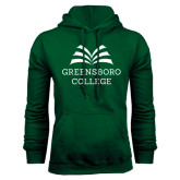 Dark Green Fleece Hood-Greensboro College