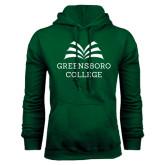 Dark Green Fleece Hood-Greensboro College