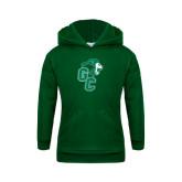 Youth Dark Green Fleece Hoodie-Official Logo
