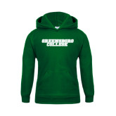 Youth Dark Green Fleece Hoodie-Wordmark
