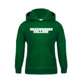 Youth Dark Green Fleece Hoodie-Wordmark
