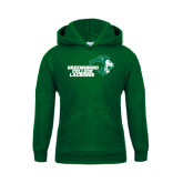 Youth Dark Green Fleece Hoodie-Lacrosse