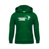 Youth Dark Green Fleece Hoodie-Lacrosse