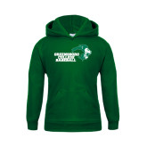 Youth Dark Green Fleece Hoodie-Baseball