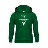 Youth Dark Green Fleece Hoodie-Lacrosse Design