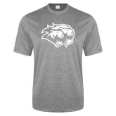 Performance Grey Heather Contender Tee-Lions