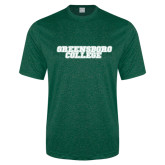 Performance Dark Green Heather Contender Tee-Wordmark
