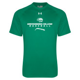 Under Armour Kelly Green Tech Tee-Baseball Seams