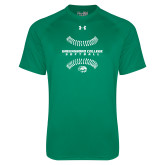 Under Armour Kelly Green Tech Tee-Softball Seams