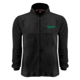 Fleece Full Zip Black Jacket-Solid Wordmark