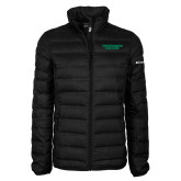 Columbia Mighty LITE Ladies Black Jacket-Solid Wordmark