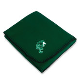 Dark Green Arctic Fleece Blanket-Official Logo