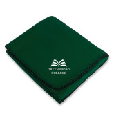Dark Green Arctic Fleece Blanket-Greensboro College
