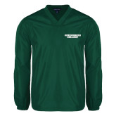 V Neck Dark Green Raglan Windshirt-Solid Wordmark
