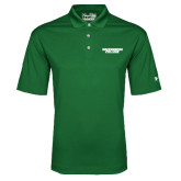 Under Armour Dark Green Performance Polo-Solid Wordmark