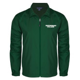 Full Zip Dark Green Wind Jacket-Solid Wordmark