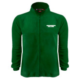 Fleece Full Zip Dark Green Jacket-Solid Wordmark