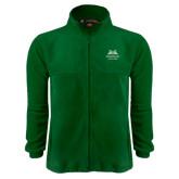 Fleece Full Zip Dark Green Jacket-Greensboro College