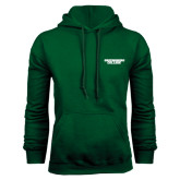 Dark Green Fleece Hood-Solid Wordmark