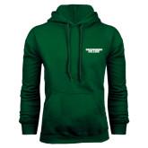 Dark Green Fleece Hood-Solid Wordmark