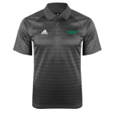 Adidas Climalite Charcoal Jaquard Select Polo-Solid Wordmark