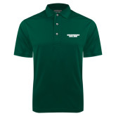 Dark Green Dry Mesh Polo-Solid Wordmark